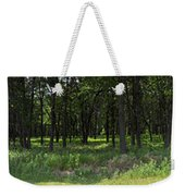 The Woods And The Road From The Series The Imprint Of Man In Nature Weekender Tote Bag