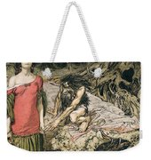 The Wooing Of Grimhilde The Mother Of Hagen From 'siegfried And The Twilight Of The Gods Weekender Tote Bag by Arthur Rackham