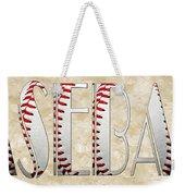 The Word Is Baseball Weekender Tote Bag by Andee Design