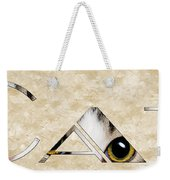 The Word Is Cat Weekender Tote Bag by Andee Design