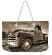 The Workhorse In Sepia - 1953 Chevy Truck Weekender Tote Bag