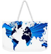 The World Map And Globe Weekender Tote Bag