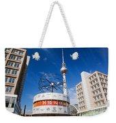 The Worldtime Clock Alexanderplatz Berlin Germany Weekender Tote Bag