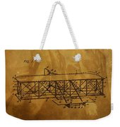 The Wright Brothers Airplane Patent Weekender Tote Bag