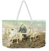 The Writer Lev Nikolaevich Tolstoy Weekender Tote Bag by Ilya Efimovich Repin
