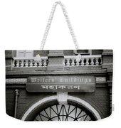 The Writers Buildings Weekender Tote Bag