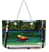 The Yellow And Red Boat Weekender Tote Bag