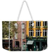The Yellow House At The Liffey River - Dublin - Ireland Weekender Tote Bag