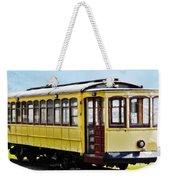 The Yellow Trolley Car Weekender Tote Bag