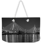 The Zakim Bridge Bw Weekender Tote Bag