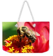 The Zinnia And The Bee Weekender Tote Bag