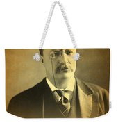 Theodore Teddy Roosevelt Portrait And Signature Weekender Tote Bag