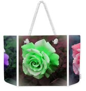 There Were Roses Triptych Weekender Tote Bag