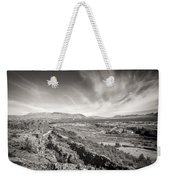 Thingvellir Iceland Black And White Weekender Tote Bag