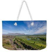 Thingvellir Iceland Weekender Tote Bag