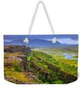 Thingvellir National Park Rift Valley Weekender Tote Bag