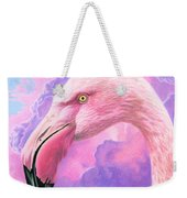Think Pink Flamingo Weekender Tote Bag