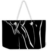 Thinking About The Night Weekender Tote Bag