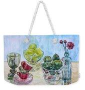 Thinking Of Cezanne Green Weekender Tote Bag