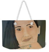 Thinking Of What To Do Next Weekender Tote Bag by Pamela  Meredith