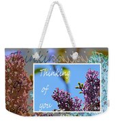 Thinking Of You 2 Weekender Tote Bag
