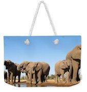 Thirsty Elephant Herd Weekender Tote Bag