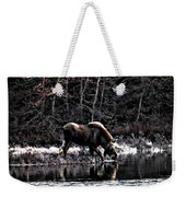 Thirsty Moose Impressionistic Digital Painting Weekender Tote Bag