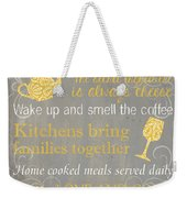 This Kitchen Is Seasoned With Love Weekender Tote Bag