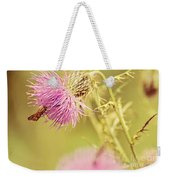 Thistle And Friend Weekender Tote Bag