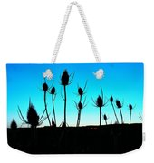 Thistles At Sunset Weekender Tote Bag