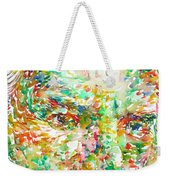 Thomas Bernhard Watercolor Portrait Weekender Tote Bag