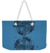 Thomas Edison Blueprint Phonograph Weekender Tote Bag