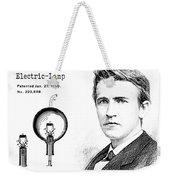 1880 Thomas Edison Electric Lamp Patent Art 2 Weekender Tote Bag