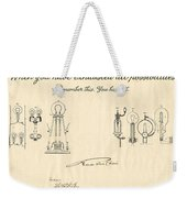Thomas Edison Quote Weekender Tote Bag