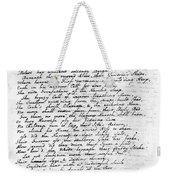 Thomas Gray: Elegy, 1750 Weekender Tote Bag