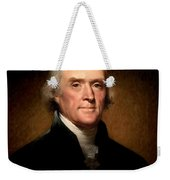 Thomas Jefferson By Rembrandt Peale Weekender Tote Bag by Bill Cannon
