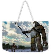 Thor And The Frost Giant Weekender Tote Bag