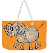 Thoughts And Colors Series Elephant Weekender Tote Bag