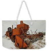 Thrashing The Snow Weekender Tote Bag by Jeff Swan