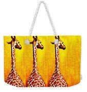 Three Amigos Giraffes Looking Back Weekender Tote Bag