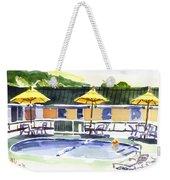 Three Amigos With Orange Beach Ball Weekender Tote Bag by Kip DeVore