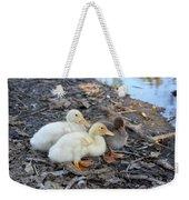 Three Baby Ducks Weekender Tote Bag