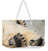 Three Bear Paws Weekender Tote Bag
