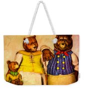Three Bears Family Portrait Weekender Tote Bag by Bob Orsillo