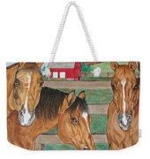 Three Beautiful Horses Weekender Tote Bag