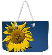 Three Bees And A Sunflower Weekender Tote Bag