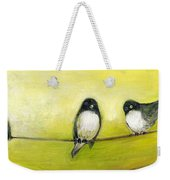 Three Birds On A Wire No 2 Weekender Tote Bag