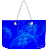 Three Blue Jellyfish Weekender Tote Bag
