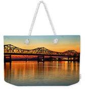 Three Bridge Sunset Weekender Tote Bag