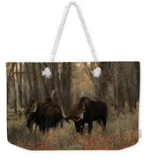 Three Bull Moose Sparring Weekender Tote Bag